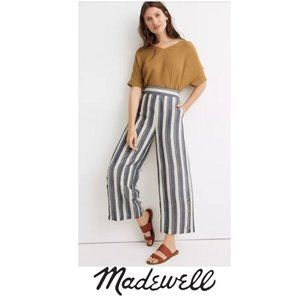 Madewell   Side-Button Huston Pull-On Crop Pants
